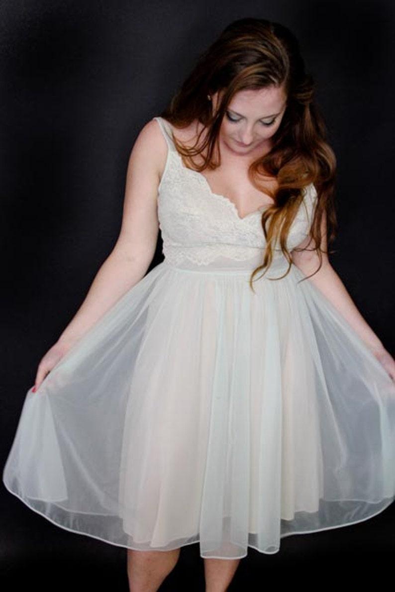 31e2d7ca275 1950 s Nylon Nightgown Shadowline Nightgown Women s