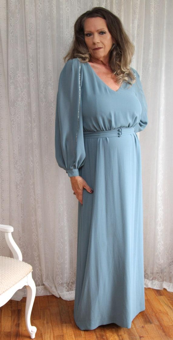 1970's Lilli Diamond Long Dress in Size 16