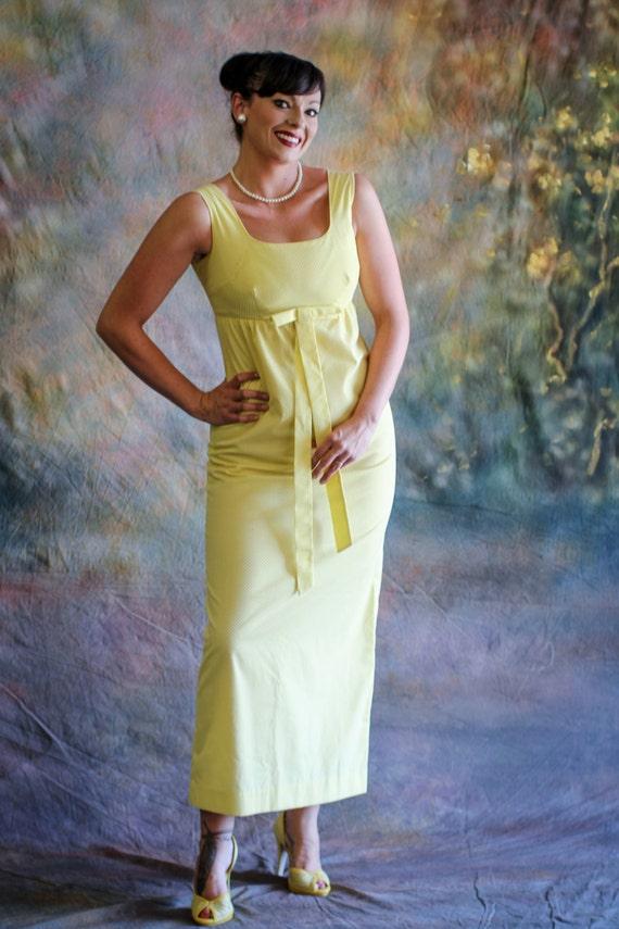 1960's Empire Waist Maxi Dress by Tori Richard