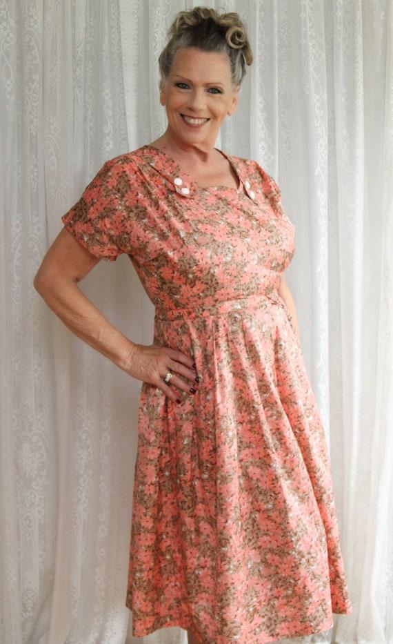Mid Century Secretary Dress, 40's/50's Handmade Da