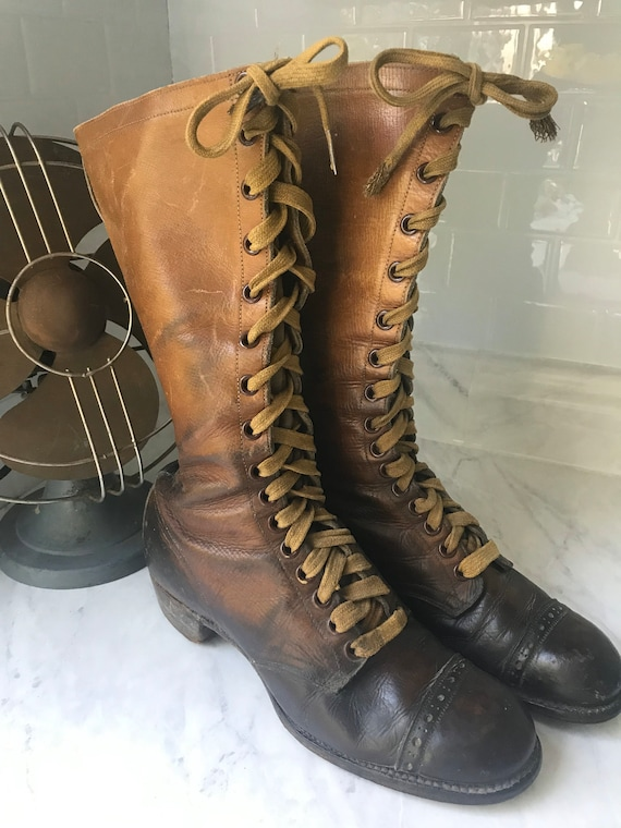 Rare Vintage Boots - Early 1900's Hiking Boots - A