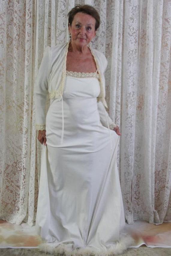 ' Longue Robe 1960 Etsy S Pyjama Pleine Longueur Avec Veste pTTdwq