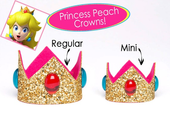 princess peach crown super mario bros princess peach crown etsy