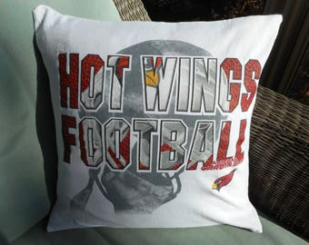 872fe657ecaf Arizona Cardinals Pillow Covers Football Throw pillows upcycled jersey knit  fabric T-shirt birthday gift for him home decor bedroom decor