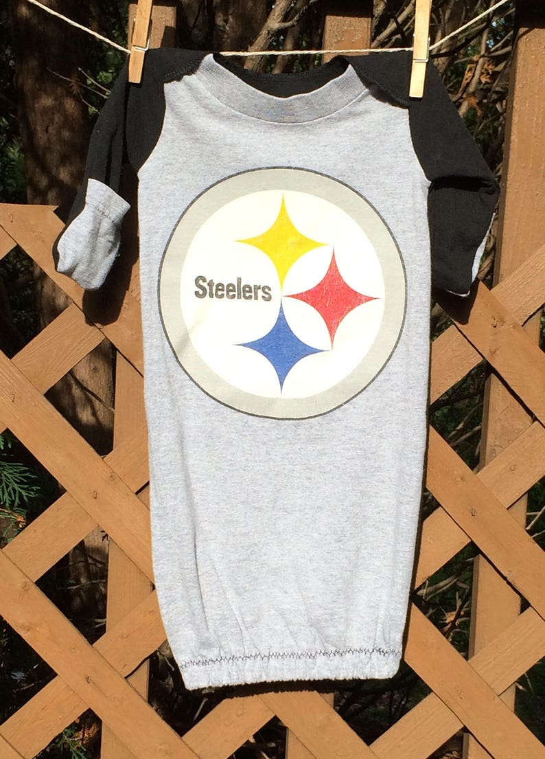 a117527669d4 Pittsburgh Steelers newborn nightgown baby boy baby girl