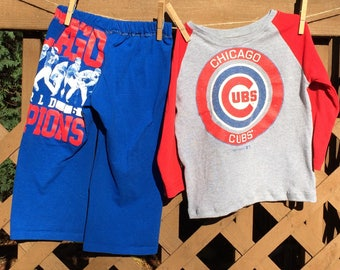 chicago cubs baseball children s upcycled cotton t shirt