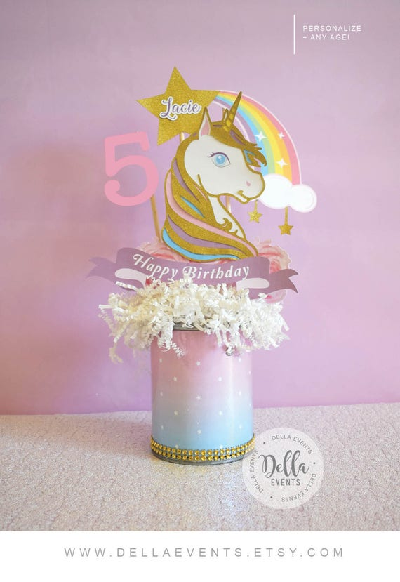 Unicorn Centerpiece Unicorn Birthday Unicorn Party Unicorn