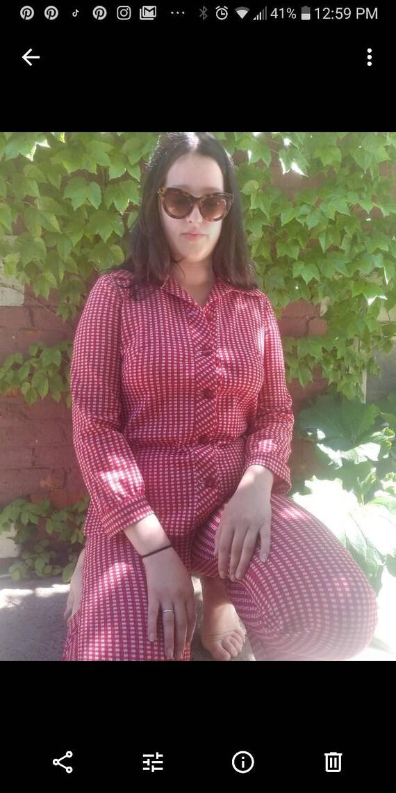 Vintage Gingham Pantsuit