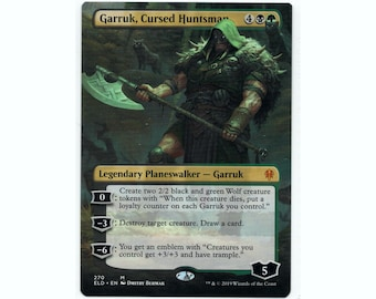 3x Wolf #6 Deathtouch Custom Altered Tokens MTG for Garruk Relentless