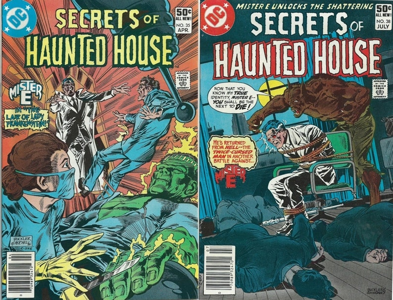 Secrets of Haunted House #35 & 38 DC Comic Books 1981, Scary Stories,  Comics and Collectibles