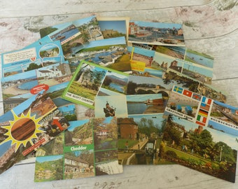Vintage postcards 1980's set 4