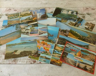 Vintage postcards 1980's set 2