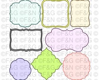 Digital TAGS - LABELS - Digital Graphics, Craft, Papercraft, Scrapbooking, Cartonnage, Notes, Invitations, Decorations, Tag - PACK 3