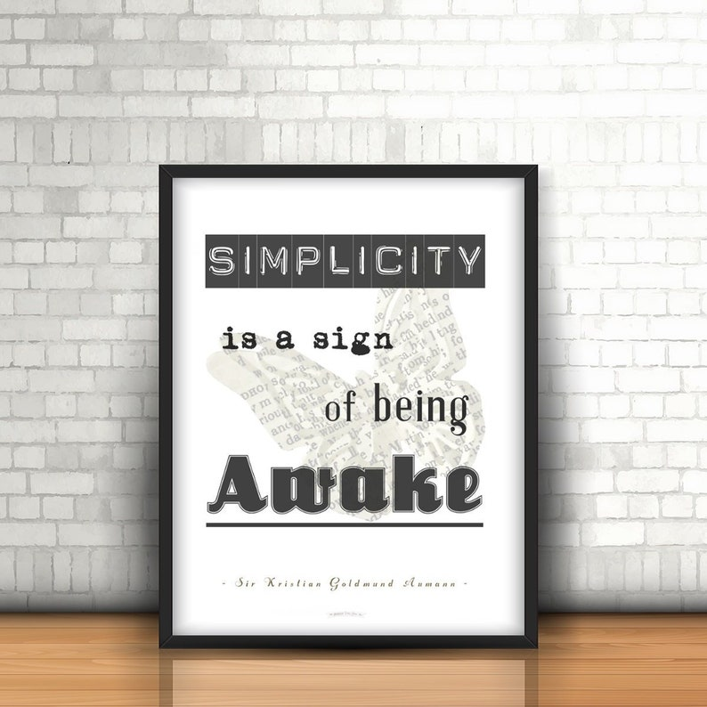 Printable Poster Simplicity is...  50x70 cm  image 0