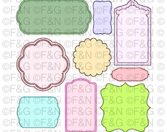 Digital TAGS - LABELS - Digital Graphics, Craft, Papercraft, Scrapbooking, Cartonnage, Notes, Invitations, Decorations, Tag - PACK 1