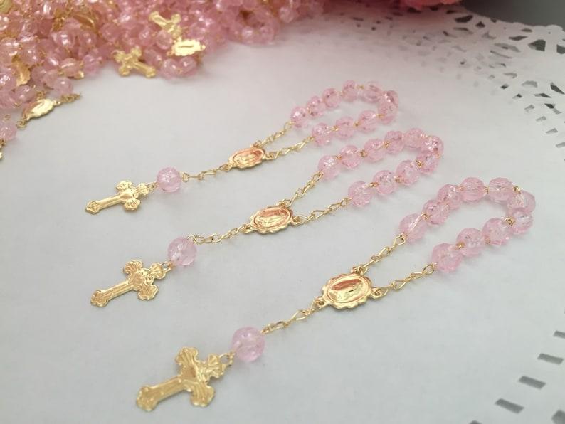f590ffbac3d 20 Recuerditos Min rosarios  Recuerdos para bautizo  bautismo