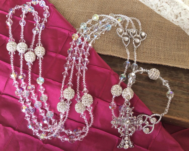 Swarovski Crystal Wedding Lasso / authentic Swarovski wedding | Etsy