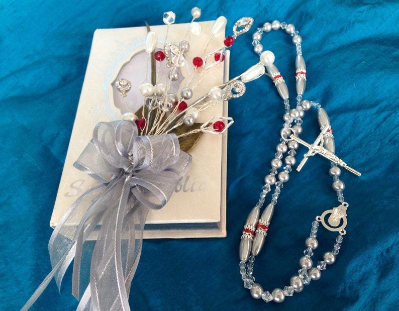 Bible And Rosary Set Set De Biblia Y Rosario Para Boda Wedding Bible Set Libro Y Rosario Wedding Gift Any Color Combination