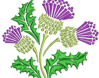 the thistle embroidery - Machine Embroidery Design