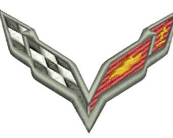 Chevrolet Corvette - Machine Embroidery Design