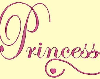 Princess - two inscriptions - Machine Embroidery designs set