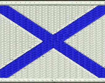 St. Andrew's flag Machine Embroidery Design instantly download