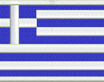 flag of Greece Machine Embroidery Design instantly download