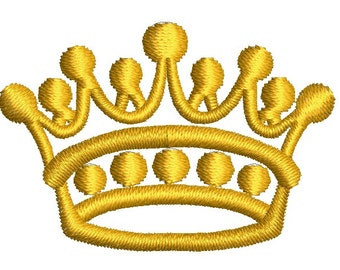 petite crown embroidery design -   4 sizes - instantly download