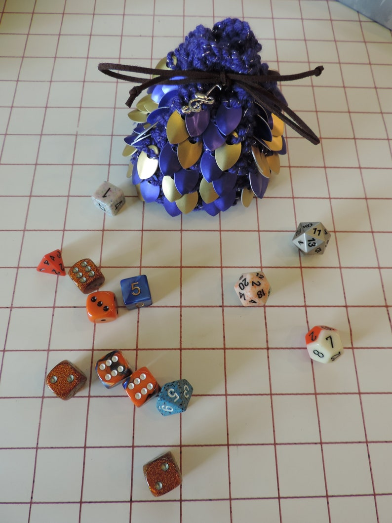 Ready to Ship Scanlan Shorthalt Vox Machina Scalemaile Dice Bag
