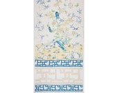132 quot L Chinese Panel 100 Linen Print Fabric