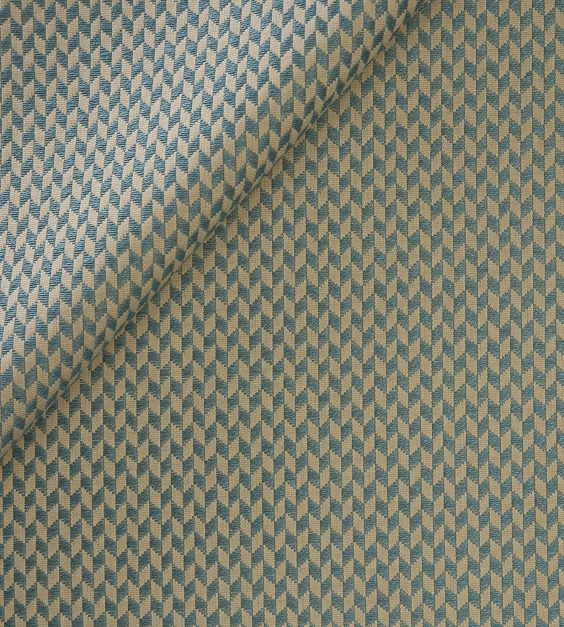 Rhombus Woven Cotton Linen Upholstery Fabric
