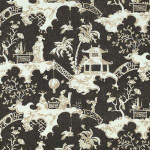 Benja Toile Print 100/% Linen Upholstery  Curtain Fabric