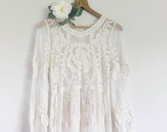 efc5a6799c9d46 ELLE lace long dress maternity