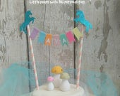 Unicorn Cake Topper, Unicorn Cake Bunting, Personalised Unicorn Birthday Cake Topper, Fairy Birthday, Unicorn Party, Rainbow Cake Topper