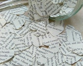 Upcycled book confetti, Party confetti, Table confetti, Themed party confetti, paper heart confetti, Cardmaking, scrapbooking, GOT party