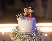 Star Trek wedding cake topper, bride and groom cake topper, geek wedding, Sci-fi topper