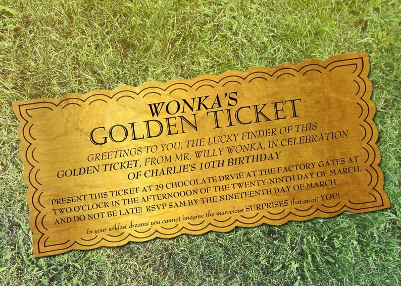photo relating to Printable Golden Ticket named Willy Wonka Custom made Golden Ticket Printable. Wonka Gold Ticket Electronic Obtain