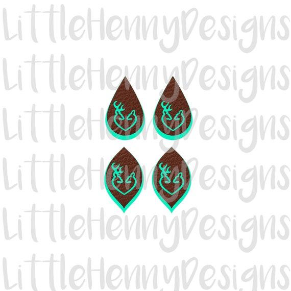 Earring Svg Svg Leather Earrings Deer Earrings Cut File Etsy