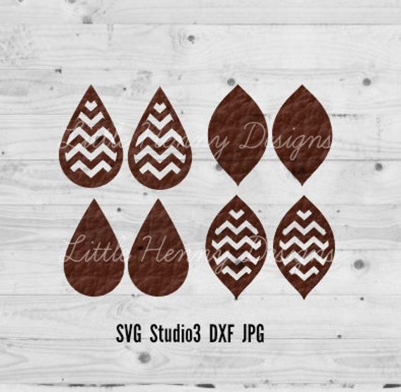 Earring Svg Leather Earring Template Ornate Earring Cut Etsy