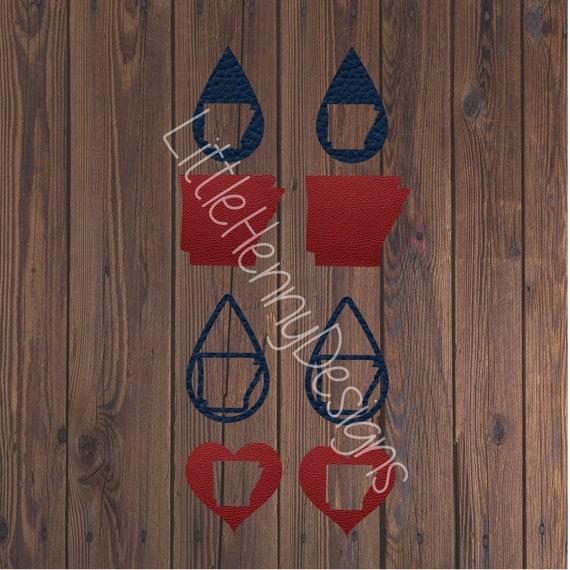 Earring Svg Svg Leather Earrings Arkansas Earrings Cut File Etsy