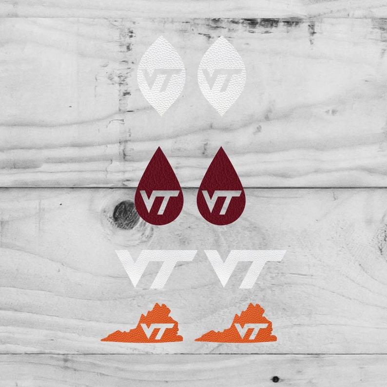 Earring Svg Virginia Tech Earrings Leather Earrings Etsy