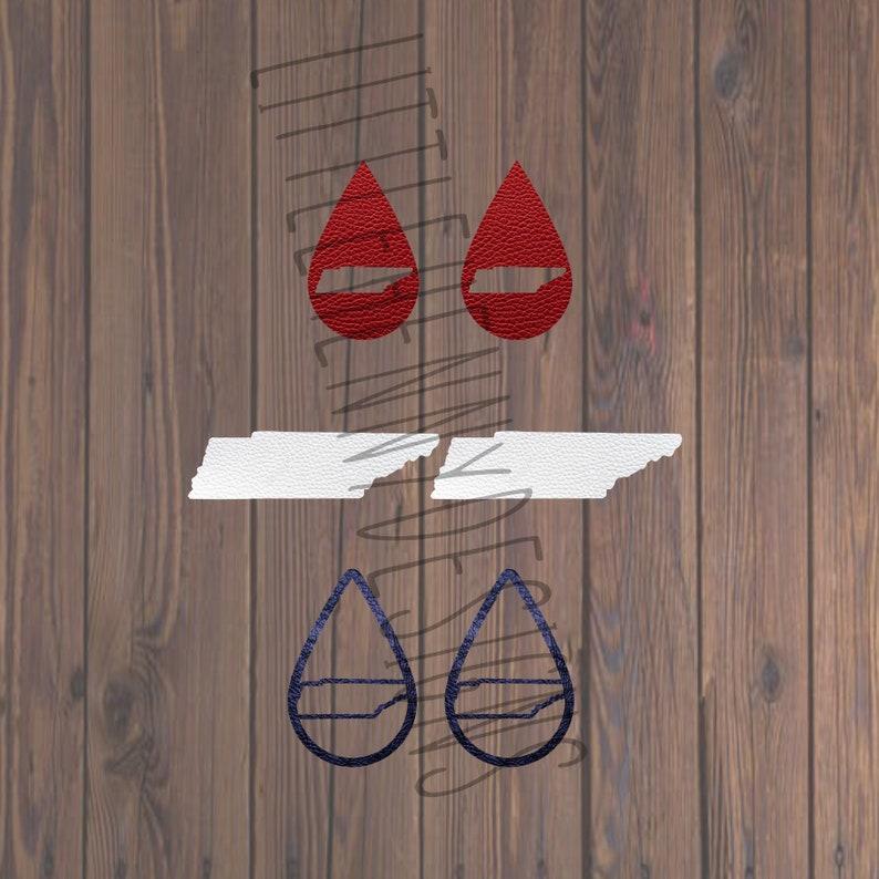 Earring Svg Svg Leather Earrings Tennessee Earrings Cut Etsy