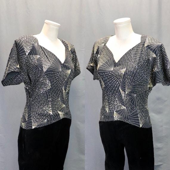 Vintage Next 1980s Batwing Sleeve Blouse
