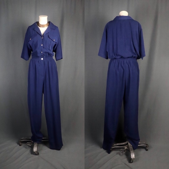 Vintage 1980s Saint Germain of Paris Designer Navy