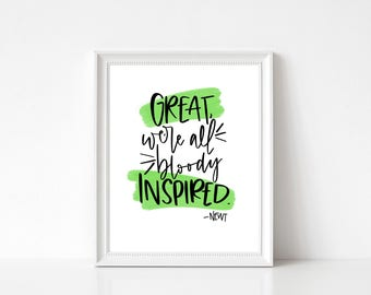 Maze Runner Newt Quote printable wall art - Instant Download