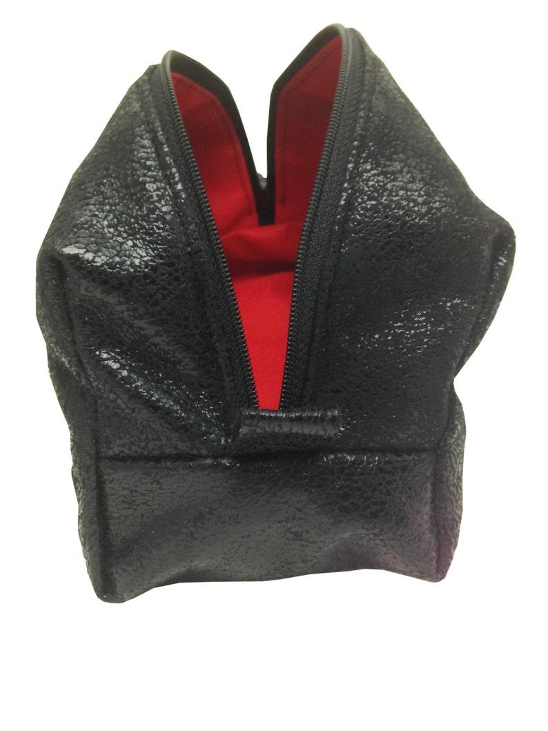 dc571902 Man czarny skóra vintage kosmetyków ręcznie wykonane wnętrze   Etsy