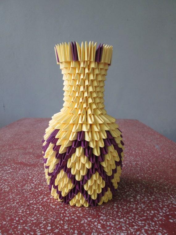 DIY Origami Vase #3 - Love Decorations   760x570