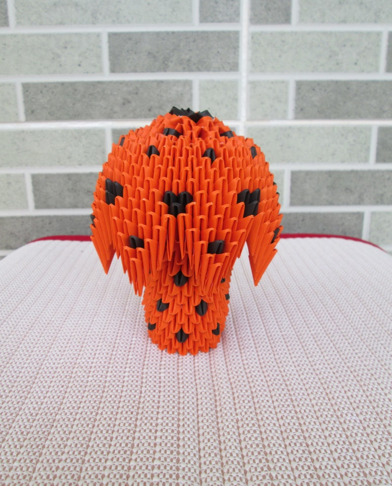 dark orange and black colors 3d Origami Mushroom only for 10.00 usd