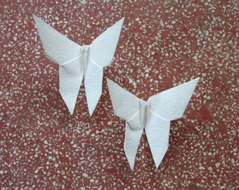 100 Paper Origami Butterfly-Shiny Ivory Color, 5 x 5 inches (12.5 x 12.5 cm) only for  10.00 USD