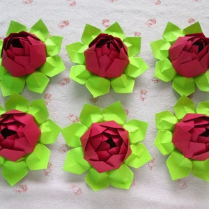 Wedding or Party Decoration pick your favorable colors only for USD186.00 96 Paper Lotus Flowers